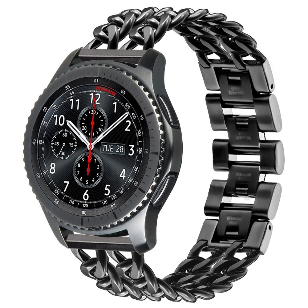 acheter populaire 3ceb6 fad37 US $24.99 50% OFF|For Samsung Gear S3 Frontier / Classic Watch Band  Stainless Steel Metal Bracelet Wristwatch Strap for Samsung Galaxy Watch  46mm-in ...