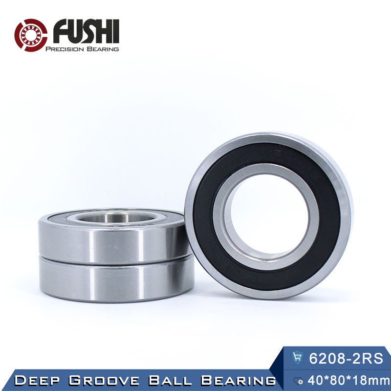 6208RS Bearing ABEC-3 (1 PCS) 40x80x18 mm Deep Groove 6208-2RS Ball Bearings 6208RZ 180208 RZ RS 6208 2RS EMQ Quality 6401 bearing size 12 x 42 x 13 mm 2 pcs heavy duty deep groove ball bearings 6401rs 6401 2rs