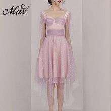 Женское Сетчатое платье трапеция max spri вечернее трапециевидной