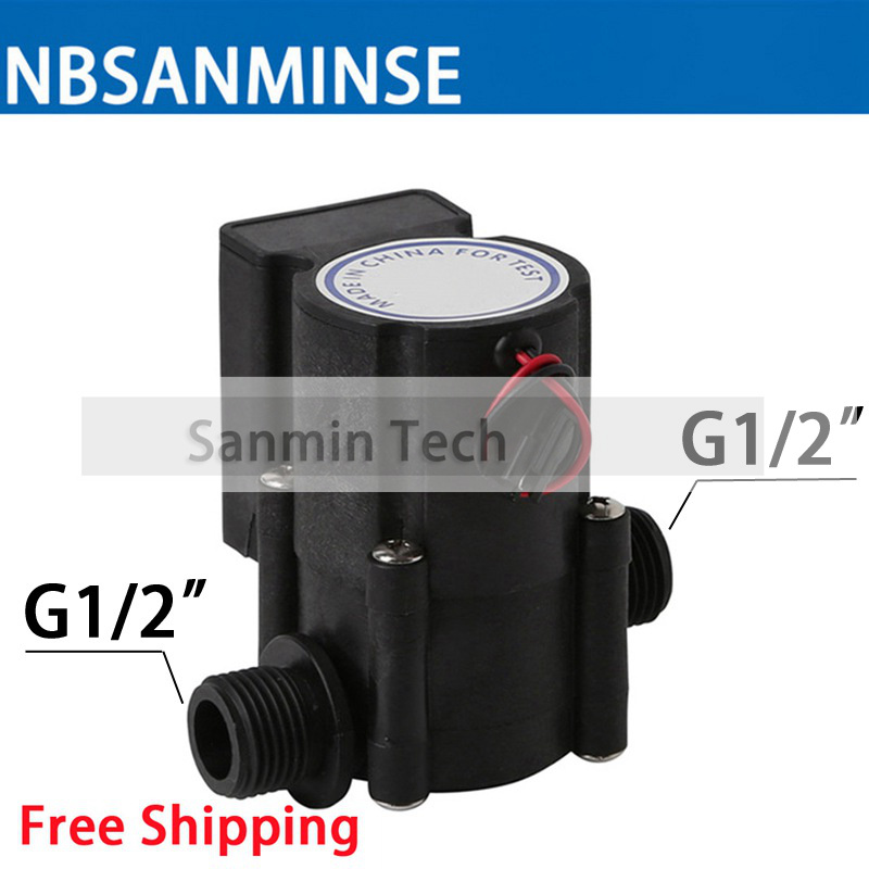 NBSANMINSE G1/2 inch Water flow generator PPA6 generator SMB668 SMB368 for water heaters, Induction clean,water dispenser translucent 12v 10w dc water flow generator turbine generator hydroelectric micro hydro generator tap water flow hydraulic diy