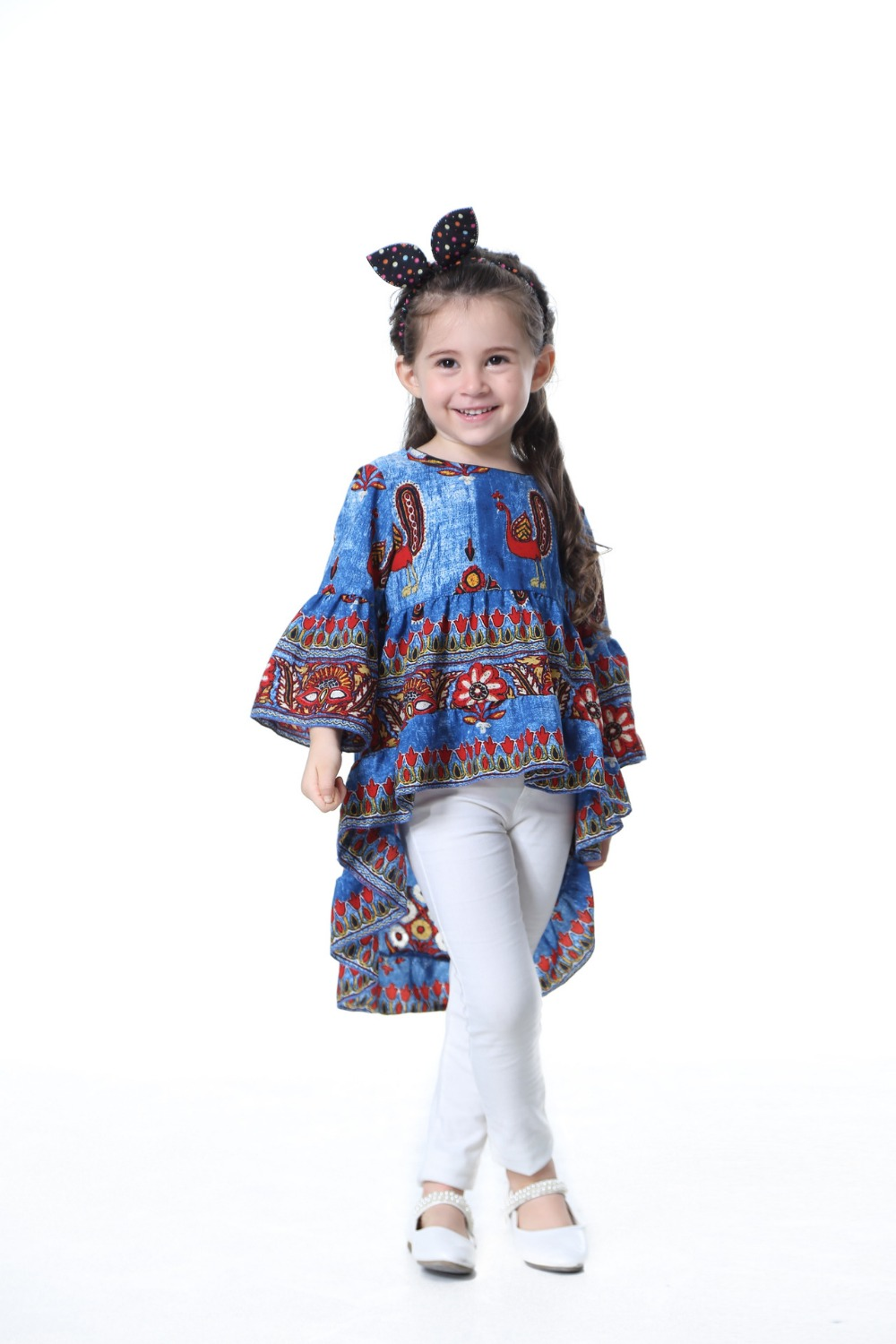 TTONCEN Fashion Autumn Baby Princess Dress Cartoon peacock fairy - Ropa de ninos - foto 2