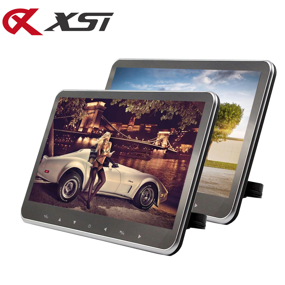 XST 2pcs 10 2 Inch Ultra thin Car Headrest Monitor MP5 Player HD 1080P Video Screen