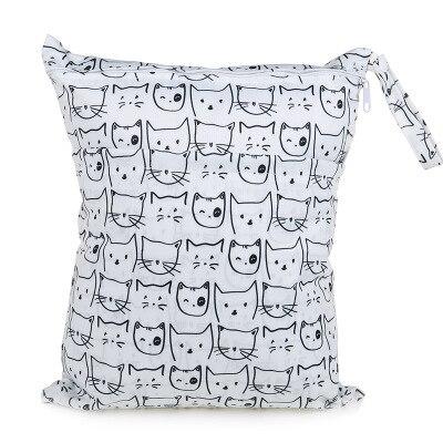 [Sigzagor] 1 Влажная сухая сумка с двумя молниями для детских подгузников, водонепроницаемая сумка для подгузников, розничная и, 36 см x 29 см, на выбор 1000 - Цвет: W114