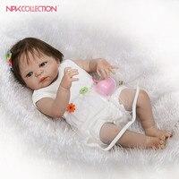 NPKCOLLECTION Реалистичные Полный винил возрождается кукла популярный подарок для детей на Рождество и день рождения bonecas reborn