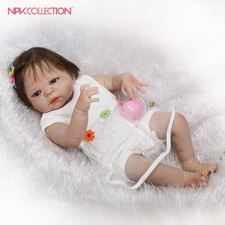 NPKCOLLECTION lifelike full vinyl reborn baby doll popular gift for children on Christmas and Birthday bonecas reborn