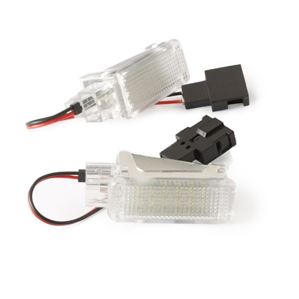 2pcs Under Door Trunk Light LED Door Welcome Interior Light Courtesy Lamp for Audi A2 A3/S3 A4 A5 A6 A8 Q7 Q5 RS4 RS6 R8