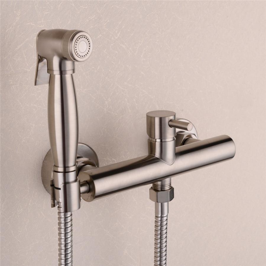 brass nickel toilet bidet spray hot cold mixer valve. Black Bedroom Furniture Sets. Home Design Ideas