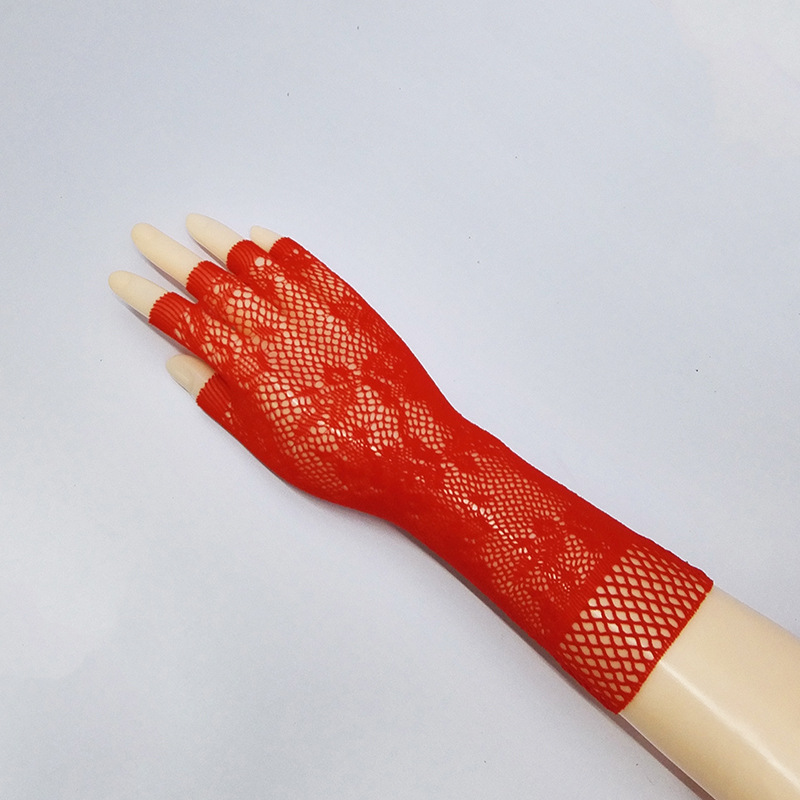 2016 7 Colors New Sexy Mesh Gloves Mesh Gauntlets Fingerless Lacing Glovs Sexy Lingerie Etiquette Liturgy Gloves 610