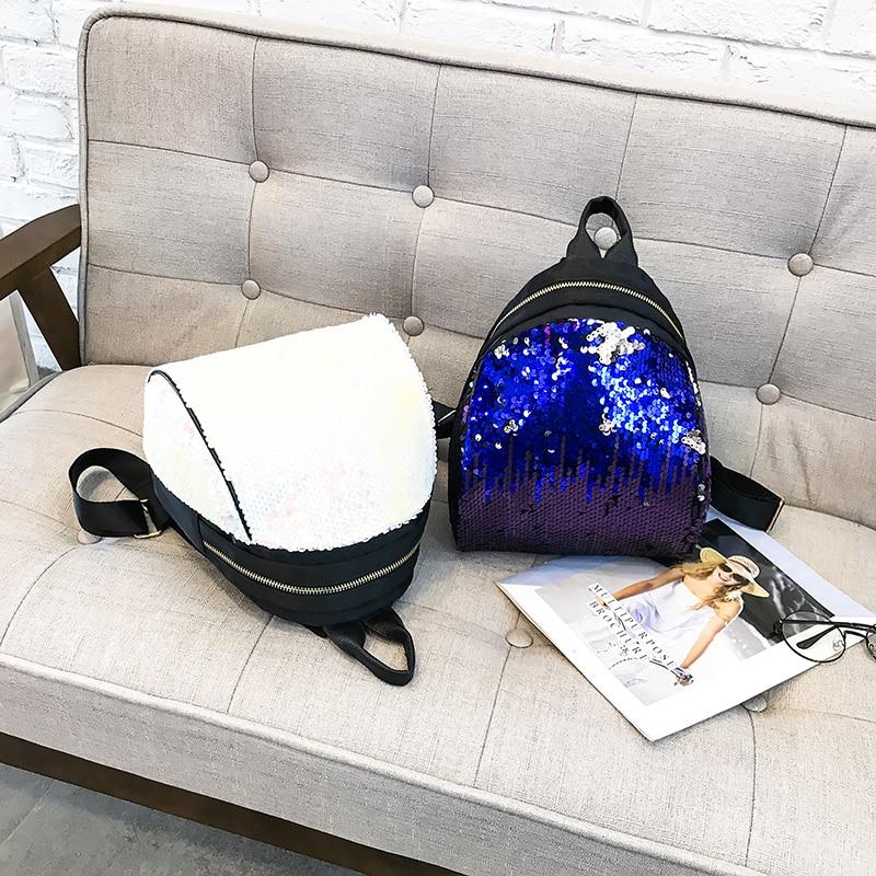 Backpacks women Korean mini 2018 new sequined shell fashion trend women go with small backpacks travel backpack 71