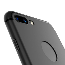Slim Silicone Case for iphone 7 6 6s 5 5s Cover Coque Candy Colors Black Shell Soft PP Matte Phone Case for iphone 7 plus