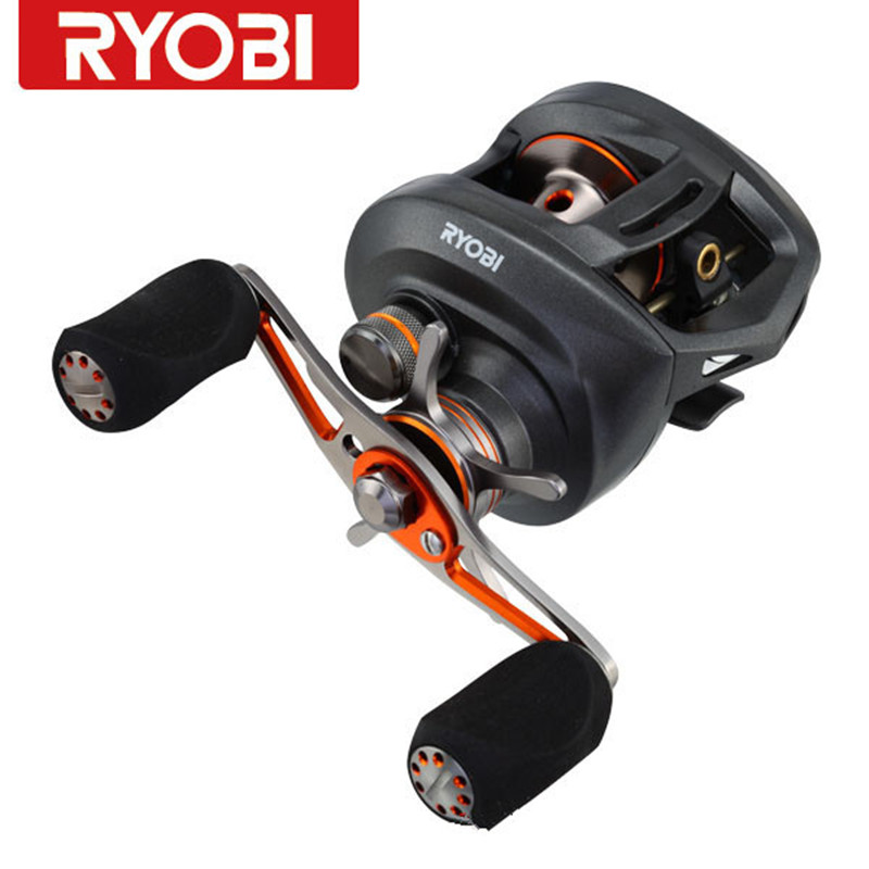 Free shipping RYOBI round bait casting fishing reels PLUMA gear ratio7.1:1/10+1ball bearing right left handle molinete pesca free shipping by ems fishing reels baitcasting reel daiwa megaforce ths gear ratio 7 3 1 six ball bearings right