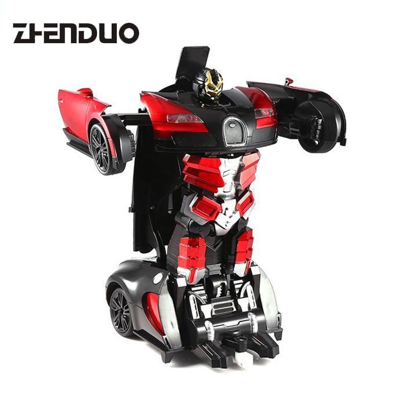 Gesture Sensing One-Key Deformation Car Remote Control Car Deformation Car Toy King Kong Robot Deformation Toy Gift цены