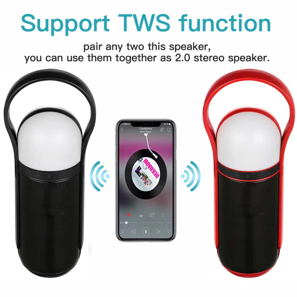 Wireless Bluetooth Speaker LED Portable Boom Box Outdoor Bass Column Subwoofer Sound Box with Mic Support TF FM USB MP3 in Subwoofer from Consumer Electronics
