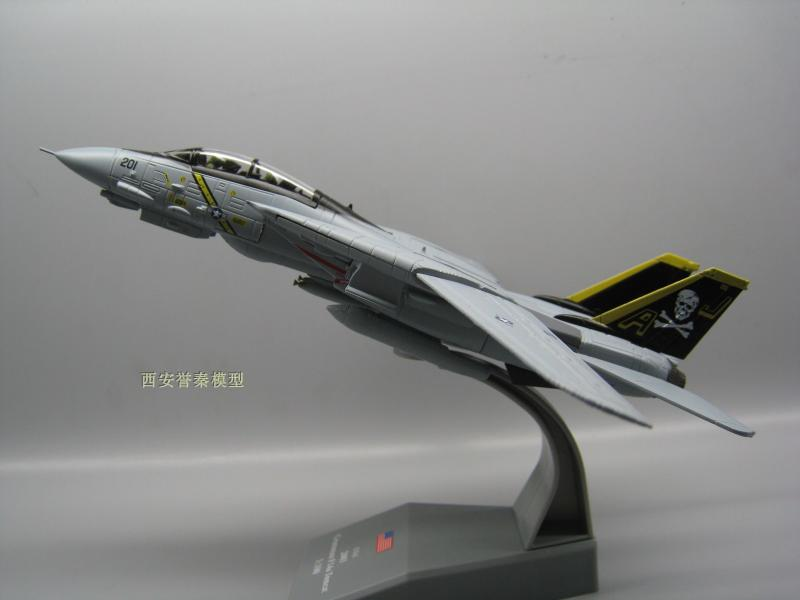 AMER 1/100 Scale Airplane Model Toys USA F-14A/B AJ200 VF-84 Fighter Diecast Metal Plane Model Toy For Collection/Gift ...