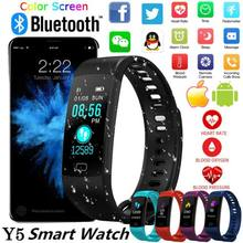 Y5 Bluetooth Smart Wristband Color Screen Smartband Heart Rate Monitor Blood Pressure Measurement Fitness Tracker Smart Bracelet(China)