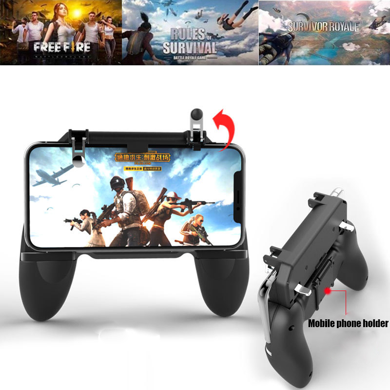 All in One PUBG Mobile Gaming GamePad Fortnit Free Fire PUGB Mobile Game Controller Joystick Metal L1 R1 Trigger