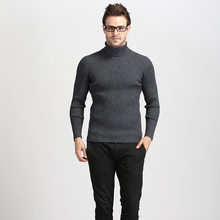 JOOBOX Winter Thick Warm Cashmere Sweater Men Turtleneck Mens Sweaters Slim Fit Pullover Men Classic Wool Knitwear Pull Homme(China)