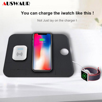 QI Fast Wireless Charger for Apple Watch iPhone Airpods 8 X XR XS MAX Charging Wireless Charger for iWatch 1 2 3 4 Charger