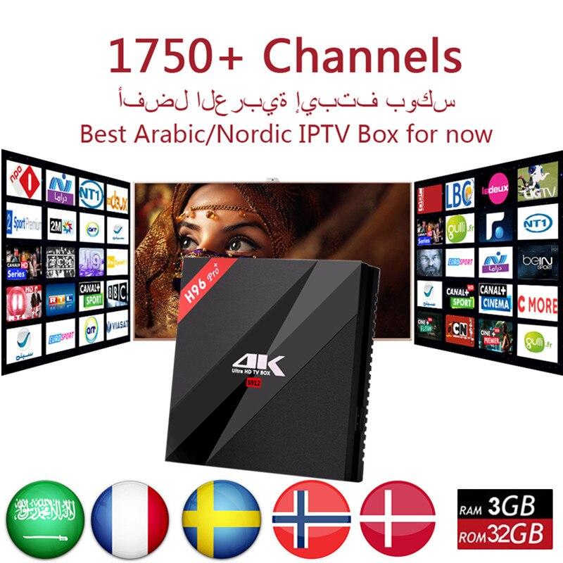 Best European Box IPTV H96 Pro+ 4500 Channels Germany France Dutch Porgugal Albanian IPTV XXX Hot Club 3G 32G Android 7.1 TV Box