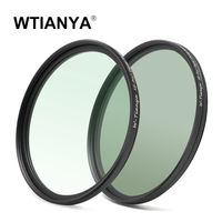 (2PCS/Set) WTIANYA 77mm SLIM Circular Polarizer Polarizing CPL Filter + 77 mm Multicoated MC UV Protective Filter HD