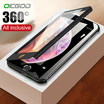360 Degree Full Cover Phone Case For iPhone 7 8 Plus X Xs Max Xr Capa Cases For iPhone 6 6S Plus X Xr 5 5S SE Case Coque Shell 1