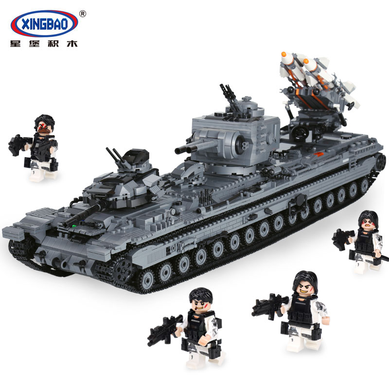 XingBao 06006 Creative MOC Military Series The KV-2 Tank Set children Educational Building Blocks Bricks legoing Toys Model Gif xingbao 01001 creative chinese style the chinese silk and satin store 2787pcs set educational building blocks bricks toys model