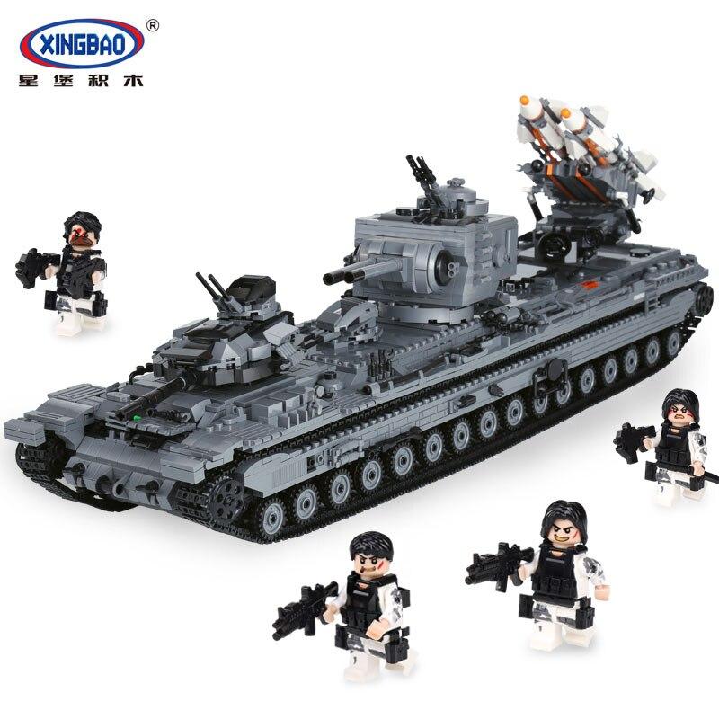 XingBao 06006 Creative MOC Militaire Série Le KV-2 Réservoir Ensemble enfants Éducatifs Blocs de Construction Briques Jouets Modèle Cadeau
