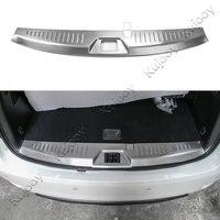 Car Interior Rear Bumper Inner Guard Frame Cover Bezel Decor Trim For Nissan Patrol 2017+ Stainless Steel Auto Chromium Styling