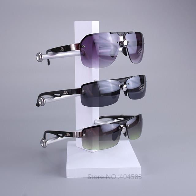 baf89495195 Novo Design de Moda 3 Par óculos de Sol Vidros do Olho Quadro do Rack  Contador