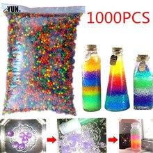 1000 шт большие гидрогелевые жемчужные Кристальные бусинки в форме почвы, бусинки для выращивания грязи, свадебные детские игрушки, шарики для выращивания воды 8D