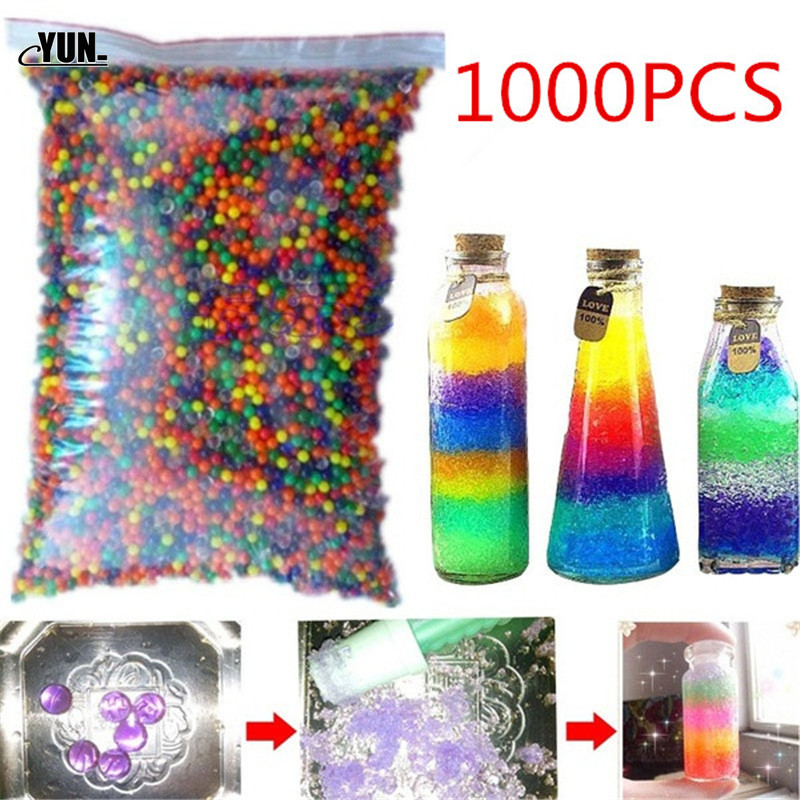 1000pcs Large Hydrogel Pearl Shaped Crystal Soil Water Beads Mud Grow Ball Wedding Kids Toy Growing Water Balls 8D(China)