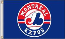 Montreal Expos MLB Flag 3X5FT Flag Hot Selling Products 90×150 cm Outdoor Sports Flag Brass Metal Holes Custom Flag