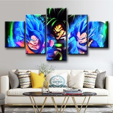5 Piece Dragon Ball Super Broly New Animation Movie Poster Cartoon Canvas Art Wall Modern Decorative Paintings for Home Decor