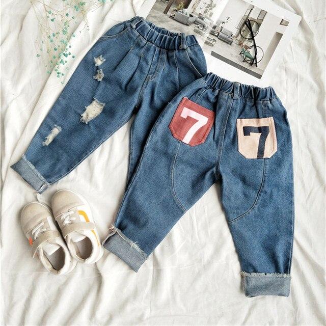 DFXDChildren Jeans Pants Spring 2018 Toddler Girls Boys Long Loose