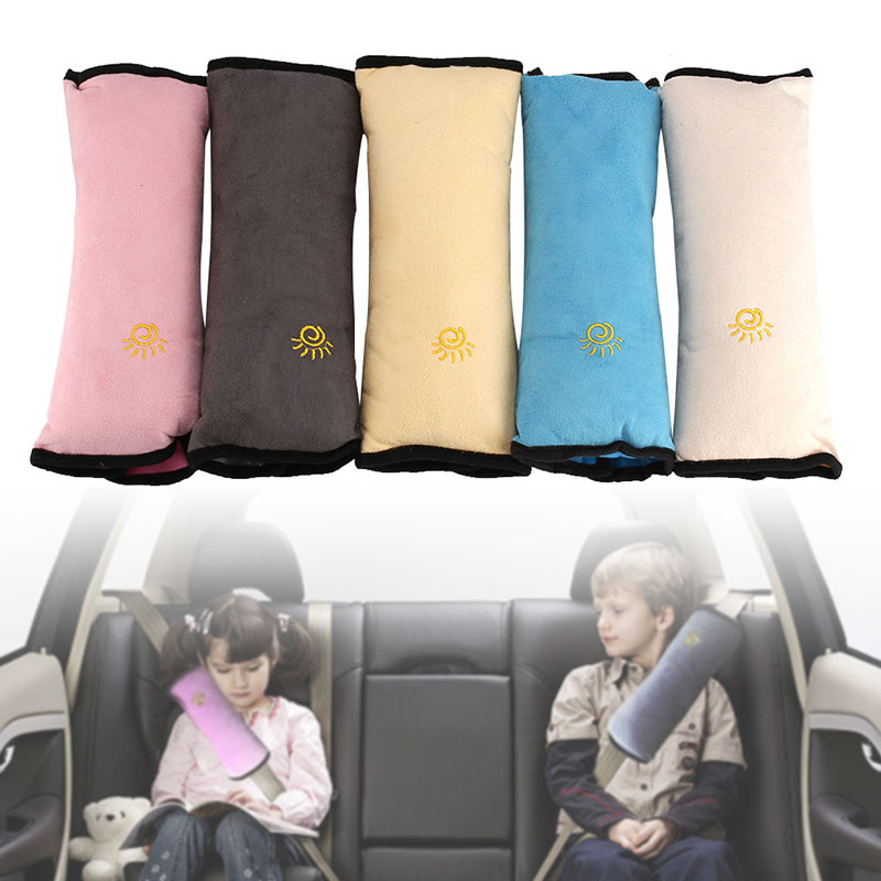 Baby Pillow Kid Car Pillows Auto Safety Seat Belt Shoulder Cushion Pad Harness Protection Support Pillow For Kids Toddler Bib