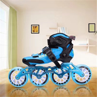 Carbon Fiber Inline Speed Skates Shoes for Children Kids Fibre Racing Track Competition 3X90mm 3X100mm 110MM 4X90mm 3 4 Wheels