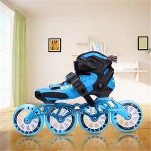 Image 1 - פחמן סיבי Inline מהירות גלגיליות נעליים לילדים ילדים סיב מרוצי מסלול תחרות 3X90mm 3X100mm 110MM 4X90mm 3 4 גלגלים