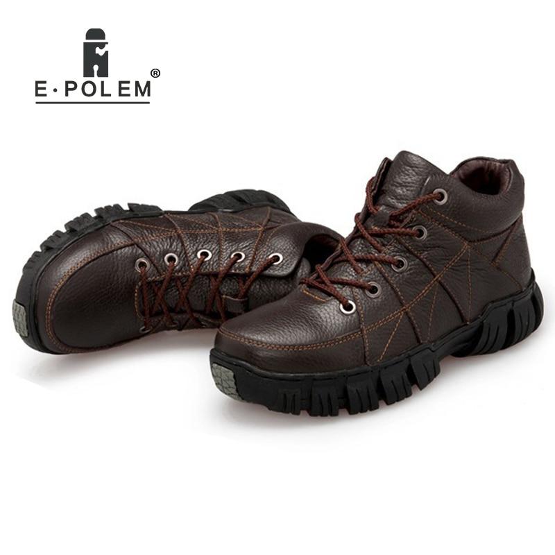 Sapatos Trabalho Femininos Casuais Do Segurança Para Brown Homens Superior Tornozelo Dos De black Calçados parte Alto Couro Plana ZXdqffw