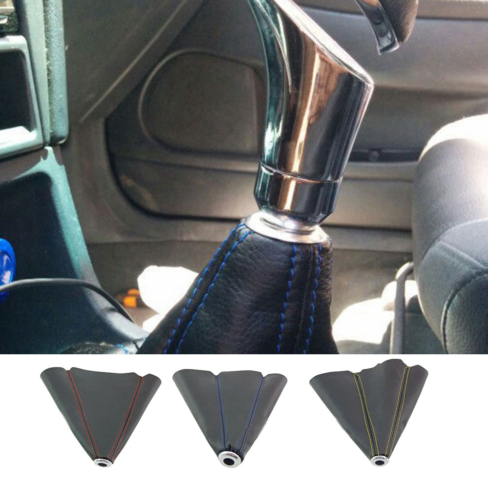 1xUniversal Car Suede Leather Manual Gear Stick Shift Knob Cover Boot Gaiter