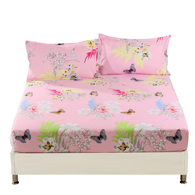 1 Pcs Fitted Sheet Bed Sheet King Sheets Double Single Bedsheet Bedding,bed  Linen,
