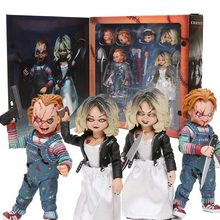 A Noiva De Chucky Horror NECA Figuras Chucky & Child's Play Filme Chucky Tiffany Final PVC Action figure Boneca Coleção presente(China)