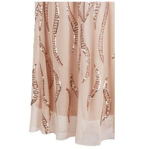 Image 5 - Angel fashions Cap Sleeve Bateau V Back Vintage Sequin Mermaid Long Evening Dress Light Coral 378