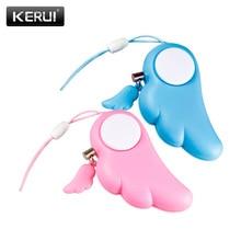 Kerui 자기 방어 키 체인 알람 개인 보호 여성 보안 강간 경보 90db 시끄러운 자기 방위 용품 비상 경보