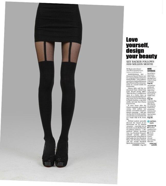 Fashion Womens Lady Girls Black Sexy Fishnet Pattern Jacquard Stockings Pantyhose Tights  Styles Woman 1pcs Dww27