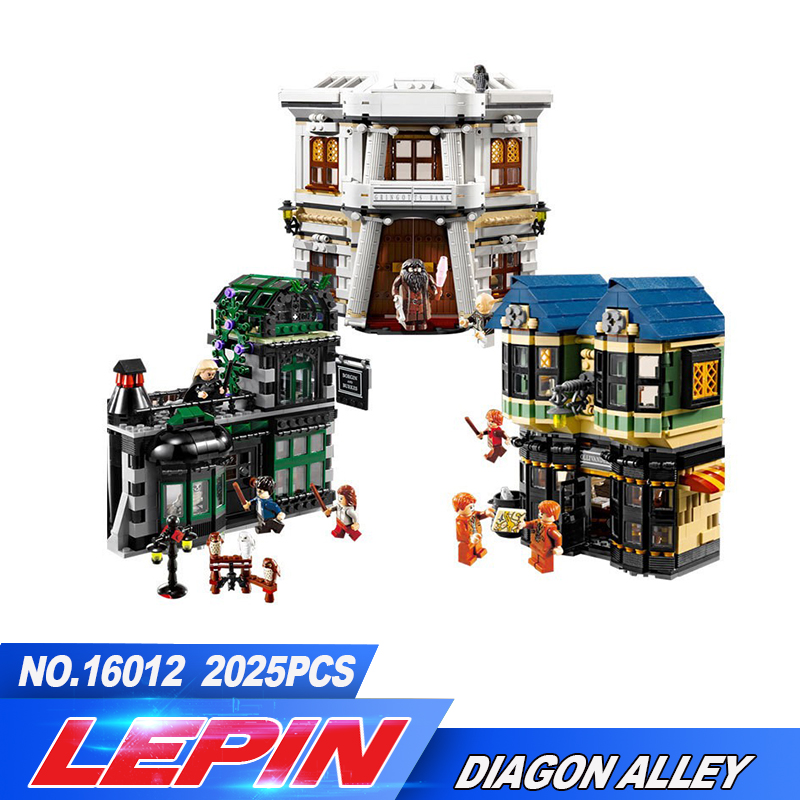 New Lepin 16012  Movie Series Harry Potter The Diagon Alley Set Building Blocks Bricks Educational Toys 10217 harry potter magical places from the films hogwarts diagon alley and beyond
