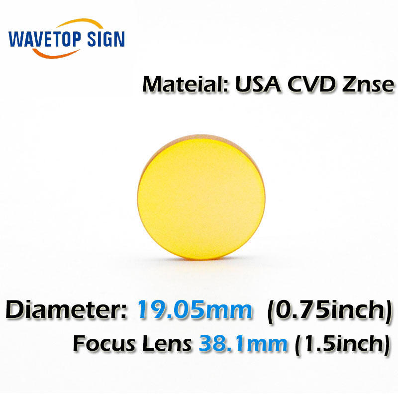 USA CVD ZnSe CO2 Laser Focusing Lens Dia. 19.05 FL. 38.1mm 1.5inch   use for Cutting Engraving Machine Accessories Carving Parts usa cvd znse focus lens dia 28mm fl 50 8mm 2 for co2 laser engraving cutting machine free shipping