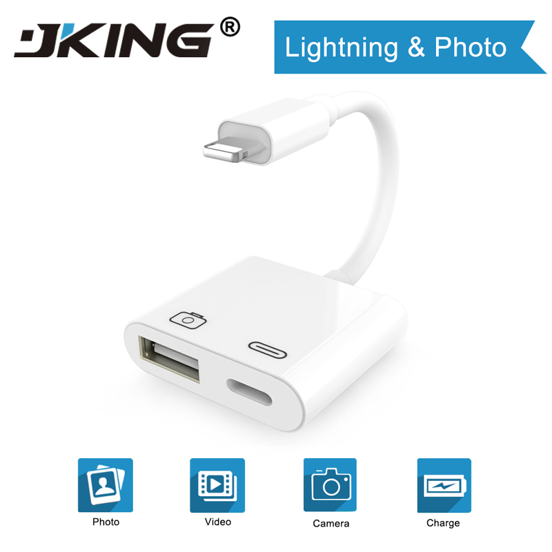2019 New OTG Adapter For Lightning To USB 3 Camera Reader Connection Kits Data Sync Charge For IPhone X/8/7/7Plus/6/6S IPad/iPod