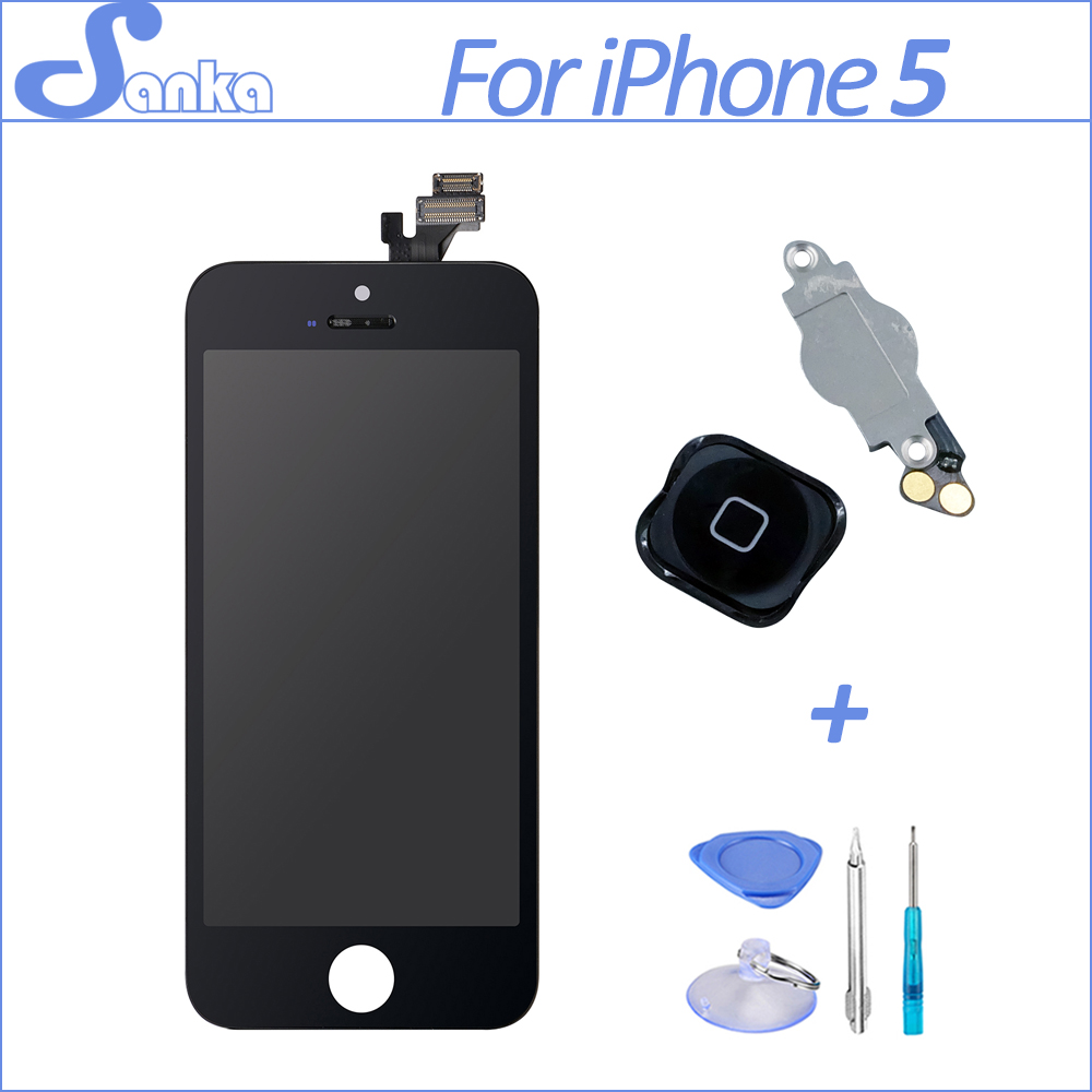Sanka aaa para el iphone 5 lcd reemplazo de la pantalla + pantalla táctil digita