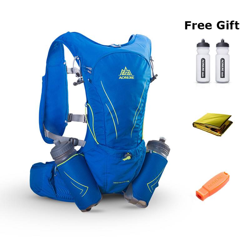 AONIJIE 15L gran corriendo bolsa con 2 piezas de botellas de 600ml al aire libre maratón reflectante senderismo ciclismo mochila hidratación chaleco paquete - 3