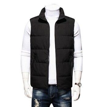 Winter men plus fertilizer XL cotton vest men's warm collar cotton vest plus  casual cotton vest men